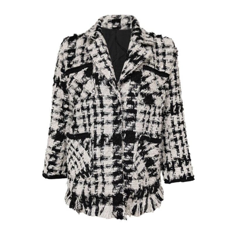 Europe And America Big Brand Suit Jacket Women's 2020 Spring New Style Fashion Debutante Commuting Versatile Elegant Tweed