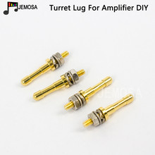 DIY Turret lug Project Audio Strip Tag Board Turret Board Terminal Lug Board For Tube Amplifier DIY Copper Plated Gold Turrets