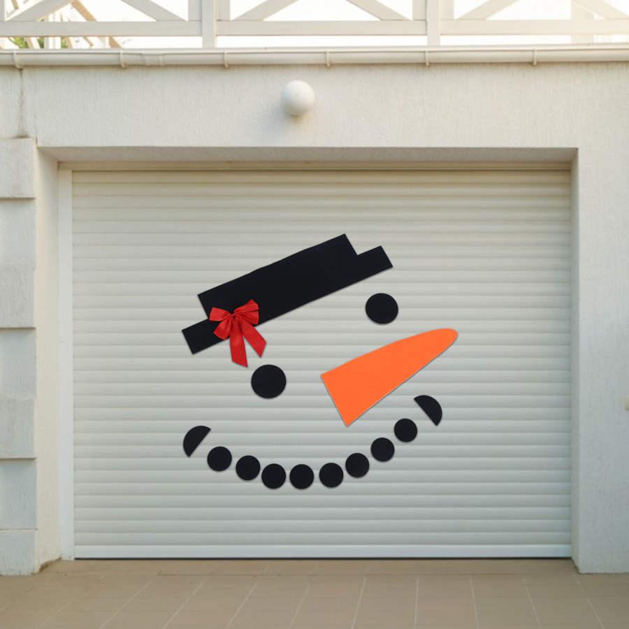 Kerst Hanger Diy Non-woven Sneeuwpop Afneembare Xmas Ornament Muur Deur Outdoor Garage Decoraties
