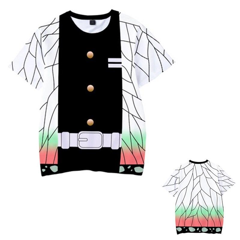 Kids Boys Devils killer T-shirts 3d Print Cosplay Japanese Ghost blade Children Summer Short Sleeve Tshirts Demon Slayer Clothes 4