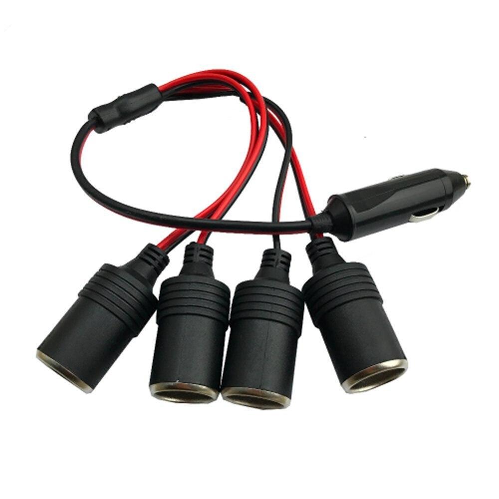 Адаптер питания для автомобильного прикуривателя 12 В 24 В, адаптер питания от 1 до 4, дорожный дистрибьютор, гнездо, разъем, адаптер