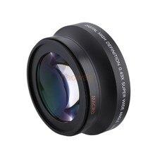 Lente de conversión Macro gran angular de 72mm 0,43x para cámara canon nikon pentax Sony HDR-FX1 HVR-Z1U
