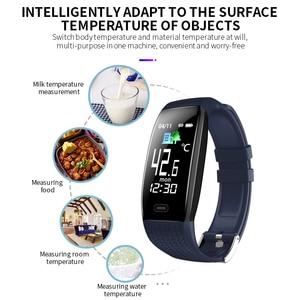 Image 2 - Lerbyee 2020 חכם שעון T5 גוף טמפרטורה עמיד למים כושר שעון שיחת תזכורת ספורט מצב Smartwatch ספורט גברים נשים חמה