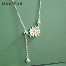 925 silver chrysanthemum stone ethnic pendant necklace CHRYSANTHEME PIERRE sterling silver necklace 925 and stone