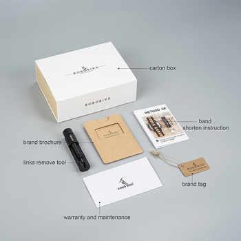 BOBO BIRD Men Wristwatches Quartz Movement Complete Calendar Wood Watch Week Display relogio masculino in Gift Box