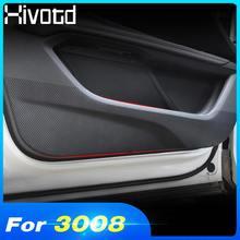 Für Peugeot 3008 3008GT 5008 2021-2018 Zubehör Auto Tür Anti Kick Pad Aufkleber Schutz Carbon Innere Tür Seite rand Film