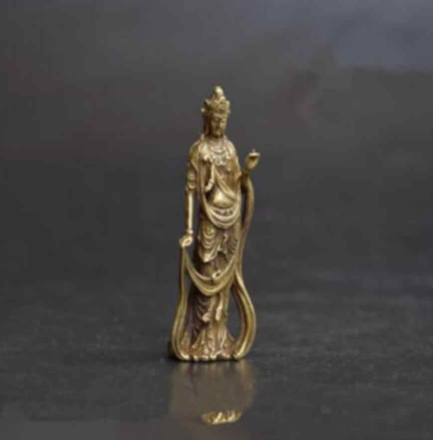Bakır heykel çin budizm Guanyin Bodhisattva buda bakır pirinç bronz küçük kolye