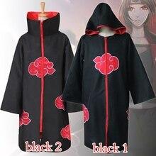 Naruto Costume Akatsuki Cloak Cape Cosplay Itachi Uchiha Clothing S-XXL