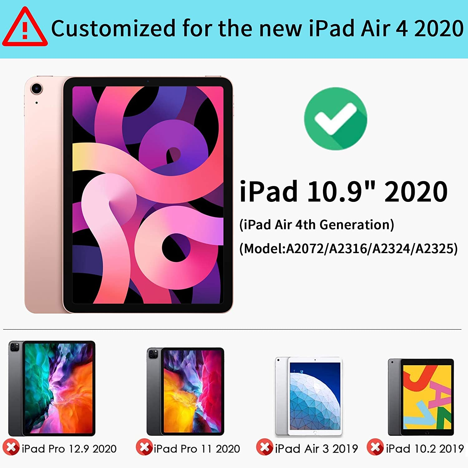 Air Case 2020 Generation iPad 4 For Inch (4th for iPad ) Smart Case Silicone air 10.9