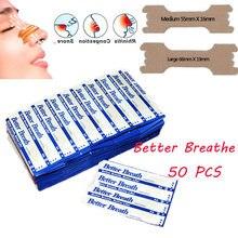 Bandes nasales droites pour respirer, 50 pièces, Anti-ronflement, aide à mieux respirer, soins de santé