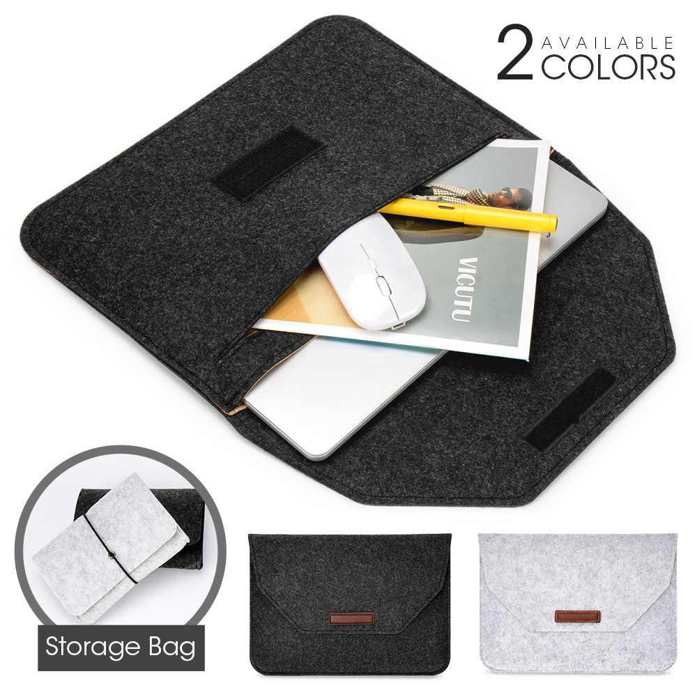 Torba z filcu na laptopa Macbook Air Pro Retina 11 12 13 14 15 ''pokrowiec na Tablet do notebooka HP Xiaomi Lenovo Mac book
