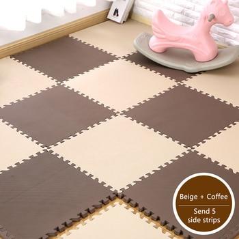цена на 10Pcs EVA Foam Baby Play Mat Stitching Crawling Rug Kid Mat Assembled Solid Color Stitching Carpet Puzzle Pad for Children Games