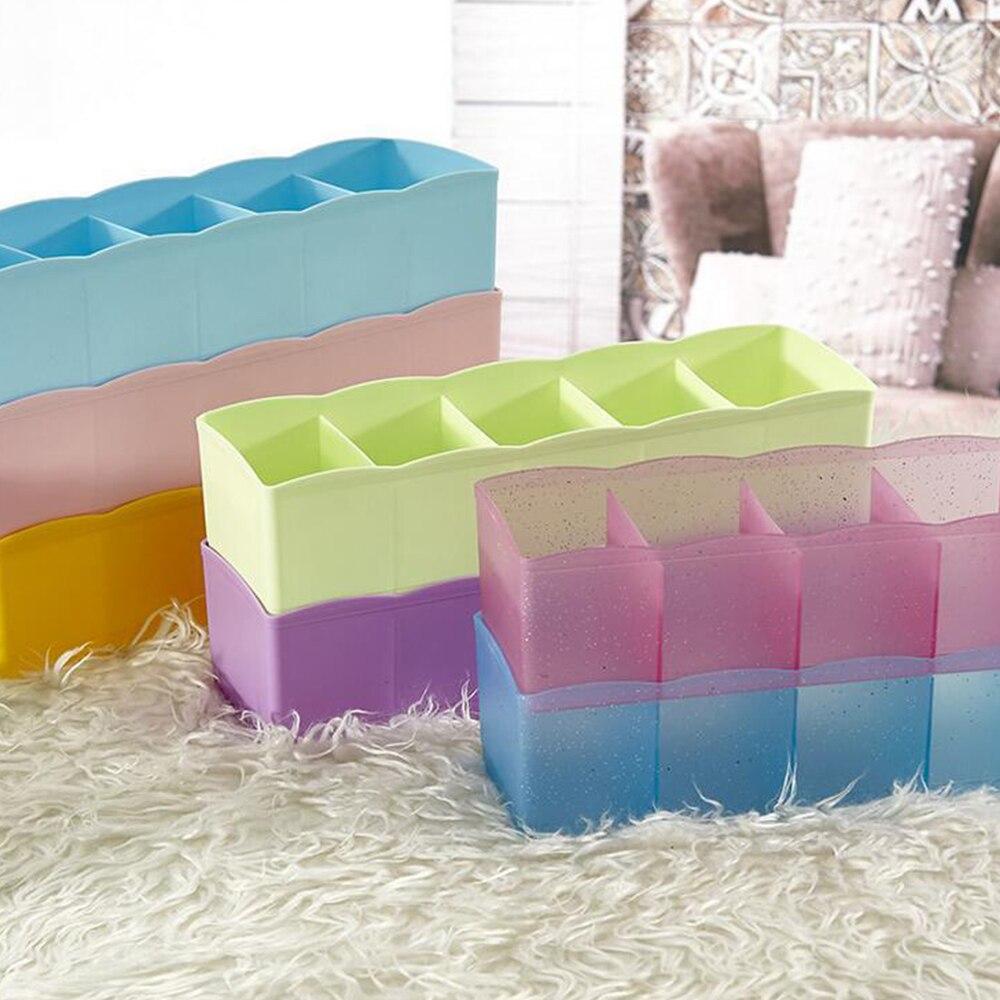 Home Storage Fünf Grid-Storage-Box Multi-Funktion Desktop Schublade Kleidung Lagerung Box Unterwäsche Socken Bh Krawatten Organizer