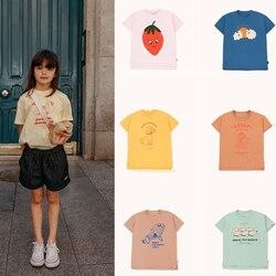 В наличии Детские футболки, детские, маленькие, 2020, новые, весна-лето, хлопок, мальчики, девочки, мультфильм, принт футболки с коротким рукаво...