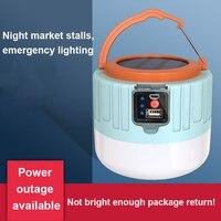 Recargable bombilla LED para lámpara de Control remoto de carga Solar de emergencia portátil de noche luz para mercado al aire libre para acampar inicio