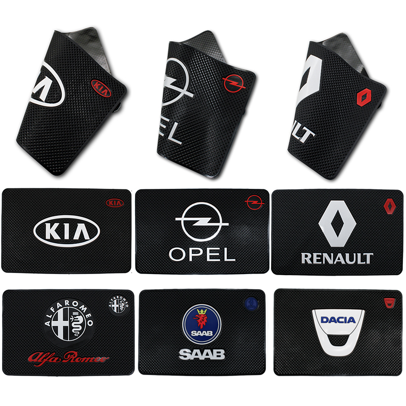 Car Logo Anti Slip Mat Phone Holder Non-Slip Mat Non Slip Pad For Bmw Mitsubishi Citroen Chevrolet Volvo Nissan Skoda Lexus KIA