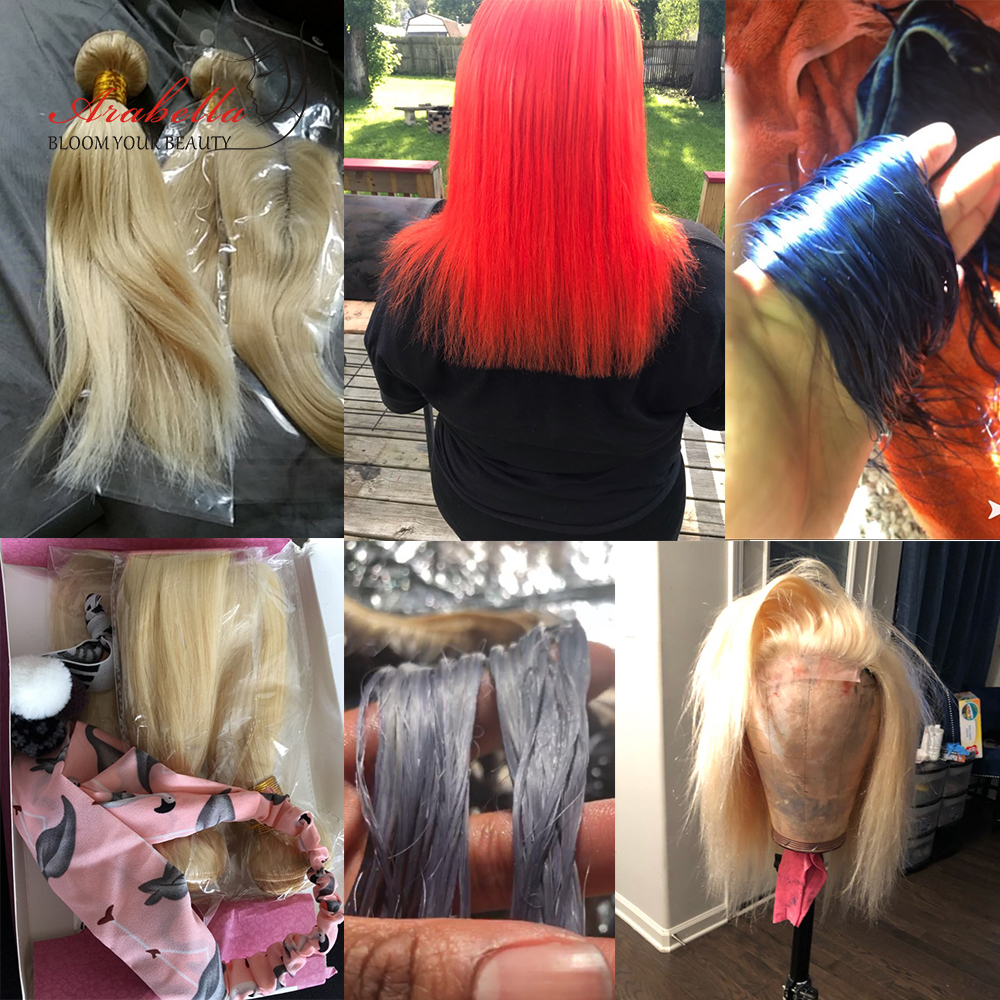 Image 5 - 613 Bundles With Closure Brazilian Straight Remy Hair Arabella 100% Human Hair Weave Bundles Blonde Bundles With Closure-in 3/4 Bundles with Closure from Hair Extensions & Wigs
