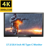 17.3 Inch IPS Type C 4K Portable Screen for Switch PS4 Pro Xbox 60Hz HDMI HDR Monitor for PC Laptop Gaming Monitor
