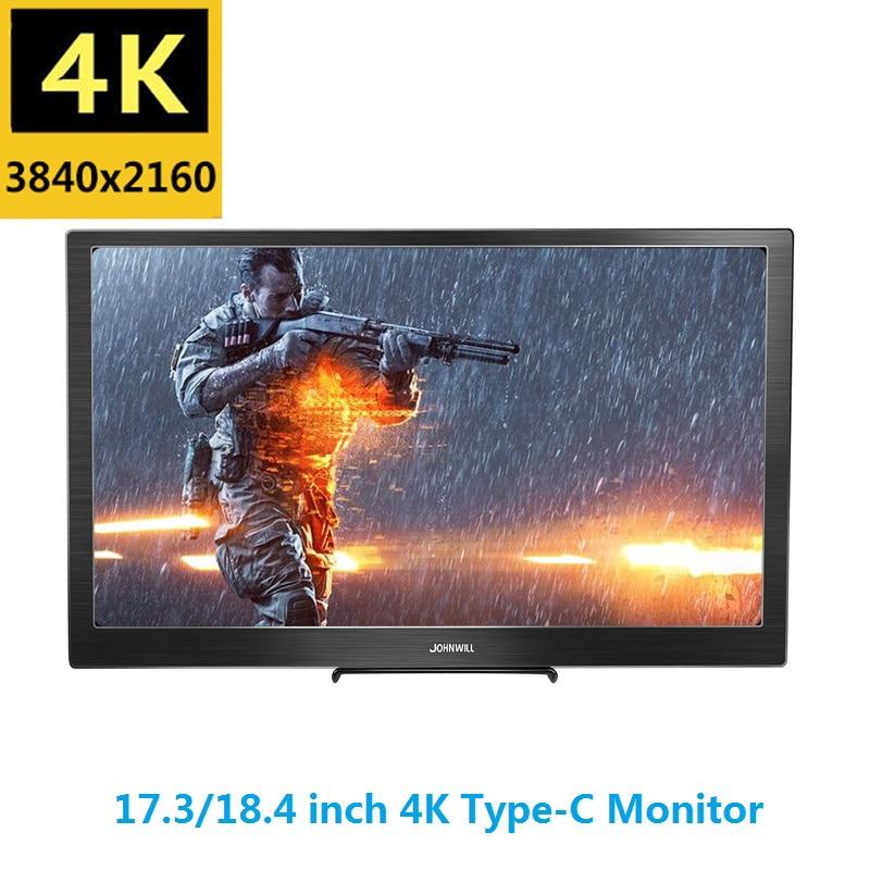 17,3 дюймов ips type C 4K Портативный экран для переключения PS4 Pro Xbox 60Hz HDMI HDR монитор для ПК ноутбука игровой монитор