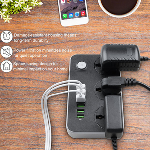 Image 5 - Power Streifen Universelle Buchse 3 Outlets 6 Schnelle USB 5V 3,4 A 17W Ladestation 2500W Surge protector 6,5 ft Kabel Circuit Breaker