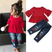 PUDCOCO Kids Baby Girls Summer T-Shirt Tops Dress Clothes+Em