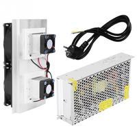 220V EU Semiconductor Refrigeration Peltier Cooler Air Cooling Radiator DIY Mini Fridge Cooling System Power Supply (EU plug)