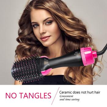 Hot Comb One Step Hair Dryer & Volumizer Paddle Brush Negative Ion Hot Air Paddle Styling Brush Smooth Frizz Ionic Hot Air Brush