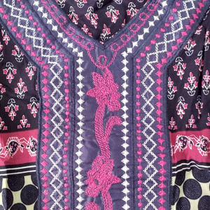 Image 5 - Dashikiage 刺繍アップリケドットルーズロングドレス女性 2019 長袖ヴィドレス