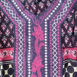Image 5 - Dashikiage Embroidery Applique Dot Loose Long Dress Women 2019 Long Sleeve Vintage Maxi Dresses