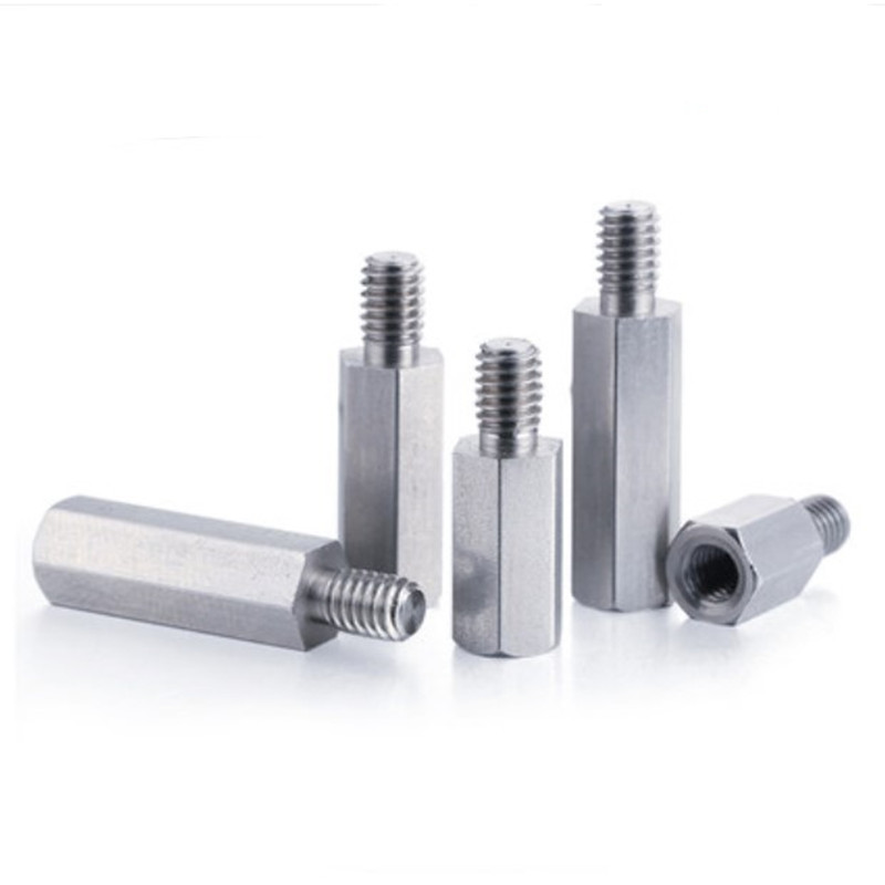 4pcs/lot M4*5/6/8/10/12/15/20/50+6 male to female 304 Stainless steel hex standoff spacer