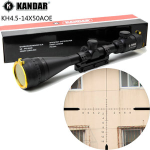 KANDAR 4.5-14x50 AOE Hunting Riflescope Red Special Cross Reticle Sniper Optic Scope Sight FOR Rifle One Piece 11mm or 20mm Ring(China)