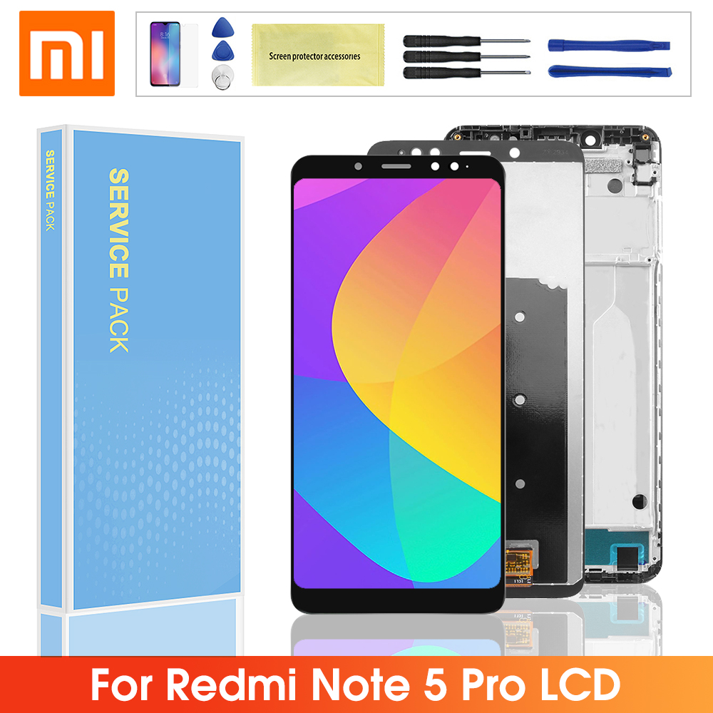 5.99'' Original <font><b>LCD</b></font> For Xiaomi <font><b>Redmi</b></font> <font><b>Note</b></font> 5 <font><b>Pro</b></font> <font><b>LCD</b></font> Display Touch Screen Digitizer Assembly Frame With For <font><b>Redmi</b></font> Note5 Note5 <font><b>Pro</b></font> image