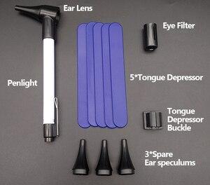 Image 3 - منظار الأذن الطبي منظار العين منظار الفم مجموعة الأذن الحلق عدة أدوات السريرية التشخيص PenLight مكبرة القلم المعدات