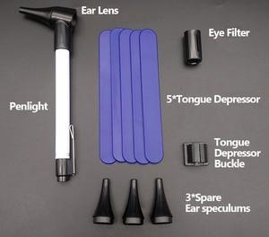 Image 3 - Otoskop medyczny oftalmoskop stomatoskop zestaw ucha oczu gardła zestawy narzędzi klinicznych diagnostyczne PenLight lupy...