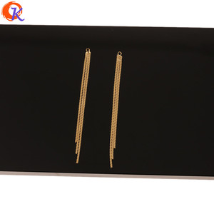 Image 2 - Cordial Design 30Pcs 3*62MM Jewelry Accessories/Hand Made/Genuine Gold Plating/Chain Tassel Shape/DIY Making/Earring Findings