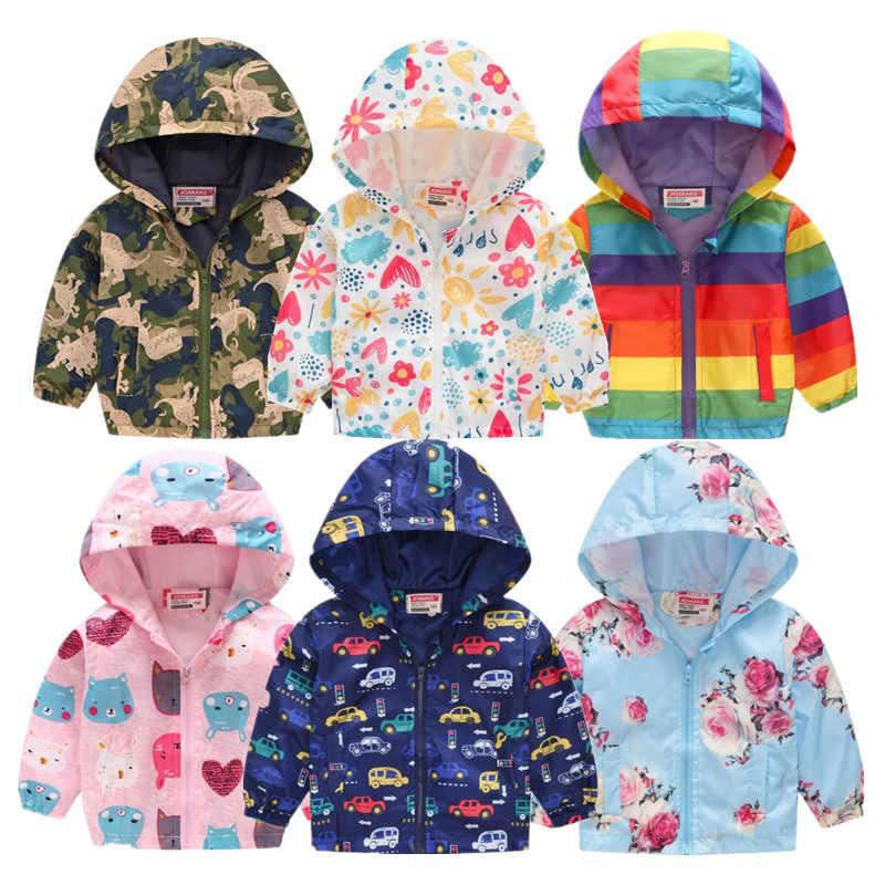 2020 a Buon Mercato Primavera Giubbotti con Cappuccio Ragazzi E Ragazze di Abbigliamento per Bambini Cappotti Giacca per Il Bambino Tops Autunno Infantile Vestiti Della Ragazza Frangivento cappotto