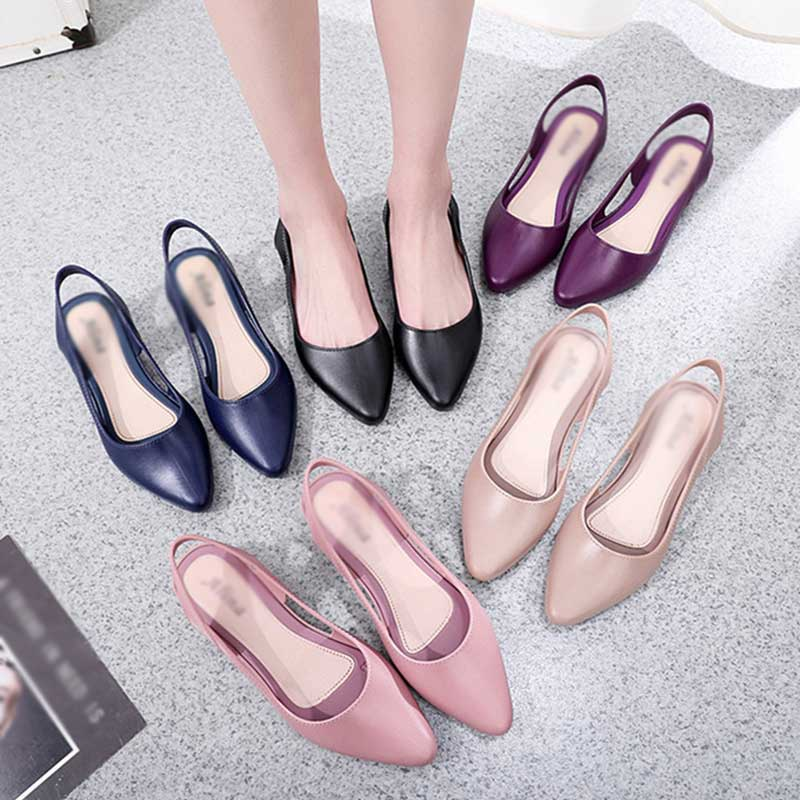 2020 Spring Women Shoes Apricot Pumps Pointed Toe High Heels Comfort Slip On Female Wedge Shoes Black Pink Casual Ladies Shoes