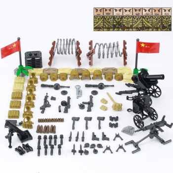 WW2 Military Weapon Accessories Building Blocks WW2 Soviet Union Army Soldiers Figures Gun Helmet Parts Bricks Toys For Children 21pcs machine gun moc weapon pack military accessories blocks city police ww2 soldiers figures bricks parts compatible legoed