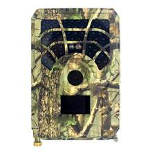 Cámara de caza impermeable IP56, cámara de juego de rastreo de 12MP, 480P, 46 LED de visión nocturna con activación por movimiento para exploración silvestre al aire libre