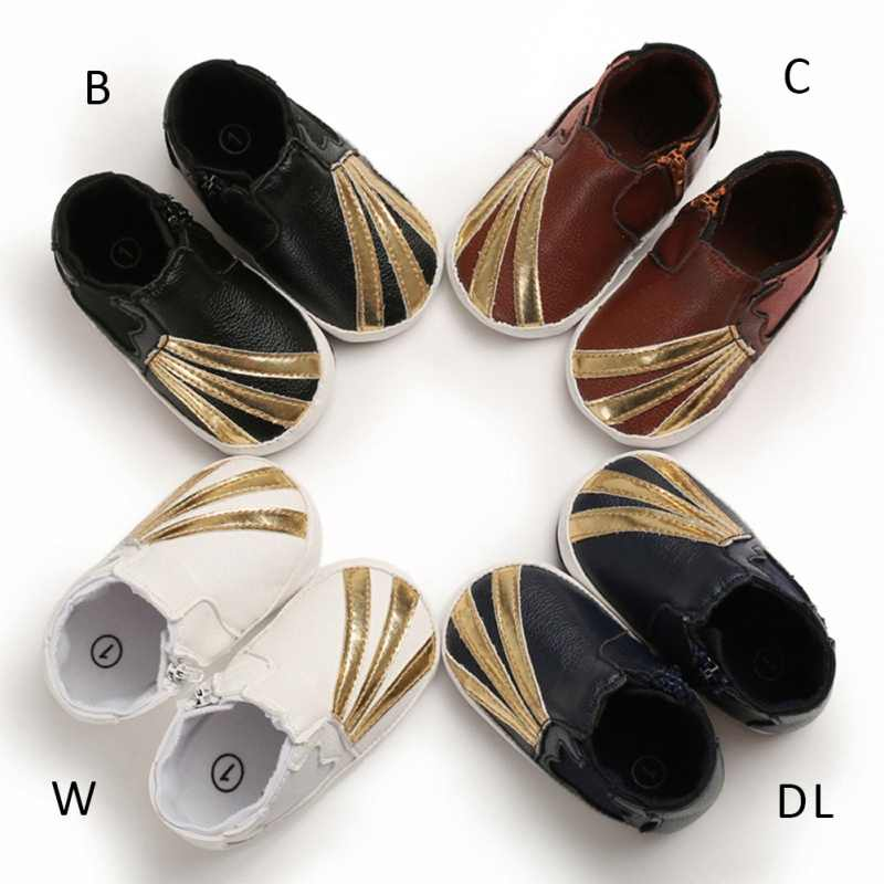 Hot Baby Shoes Spring / Autumn Soft Sole Leather PU Infant Baby Shoes Infant First Walkers Cradle 0-18 Months