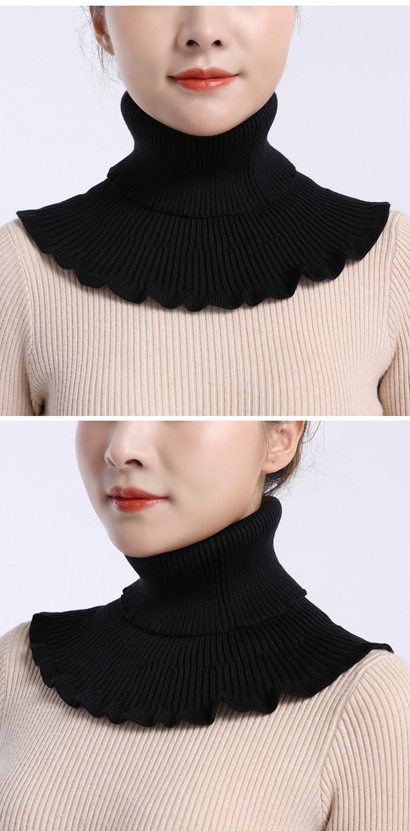 Wavy Turtleneck