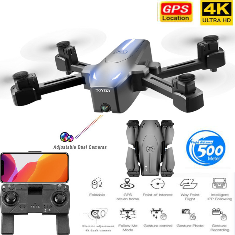 Best Camera Drone GPS 4K HD ESC Dual Camera Optical flow Follow Me Quadrocopter WIFI FPV Long Battery Rc Drone