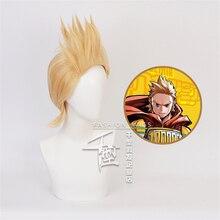 Wig Cosplay-Costume Lemillion Mirio Short-Wigs Boku My Hero Men Academia Togata Golden