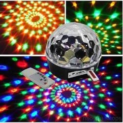 Nowy 6 kolorów cyfrowa kula dyskotekowa oświetlenie sceniczne sterowanie głosem Bluetooth odtwarzacz MP3 kryształowa magiczna kula pilot mody w Oświetlenie sceniczne od Lampy i oświetlenie na
