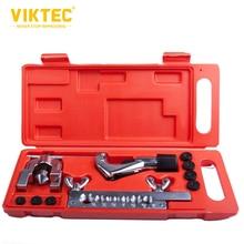 "Viktec Double Brake Pipe Flaring Tool Kit Double Flaring Tool Kit for 3/16""-5/8"" 7 Dies Automotive"