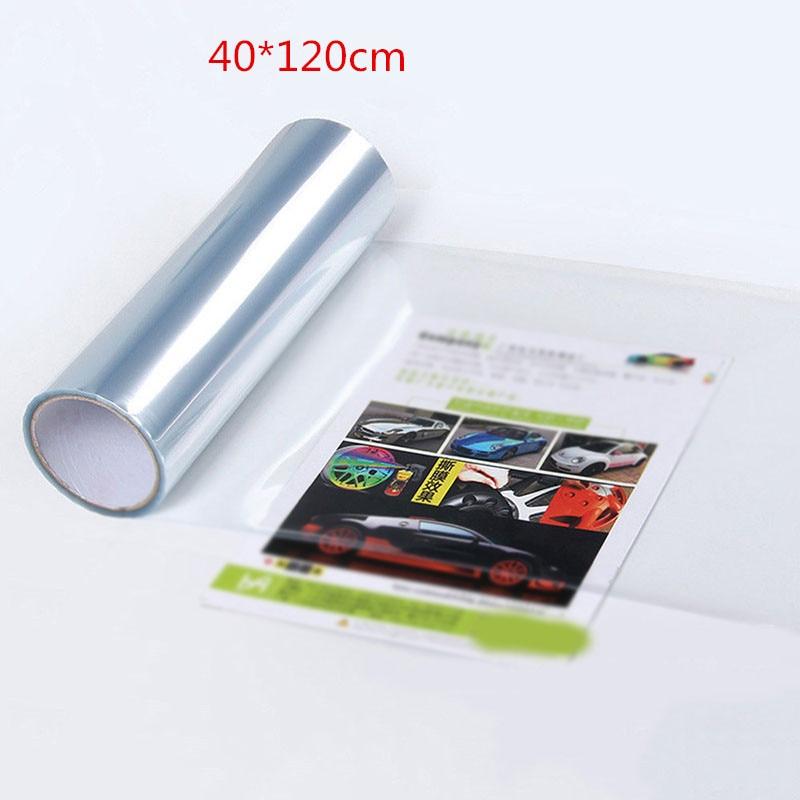 Filme uv do farol do traço do filme do farol do carro 40*120cm película protetora stereos exterior transparente pára uv farol protetor