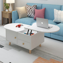 New TV Cabinet Coffee Table Wooden Minimalist Nordic TV Cabinet Floor Cabinet Living Room Modern Colorful Telescopic Combination