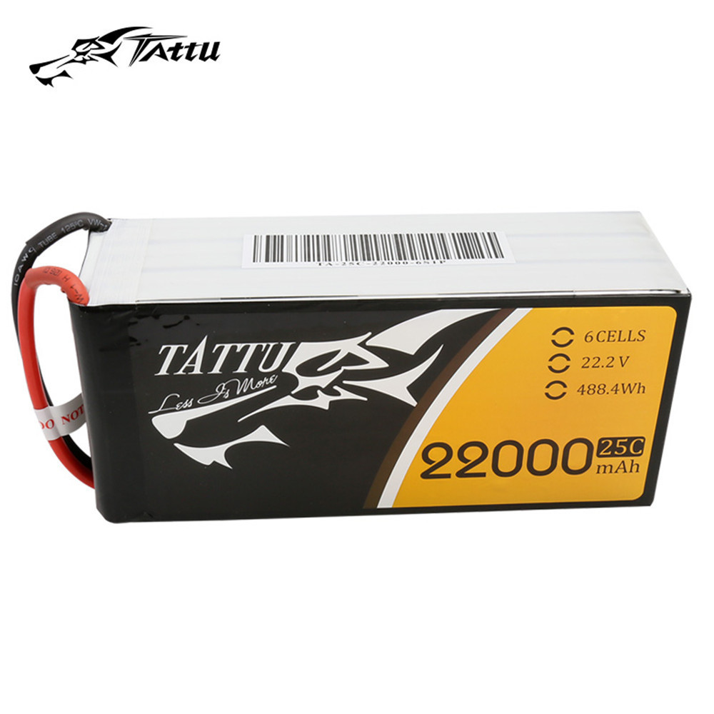 Tattu <font><b>22000mAh</b></font> 6S1P 25C 22.2V <font><b>Lipo</b></font> Battery Pack for Big Load Multirotor and most Agricultral Plant Protection Drone image