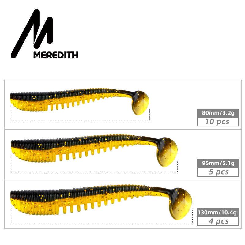 Meredith awaruna iscas de pesca 8cm 9.5cm 13cm iscas artificiais wobblers iscas macias shad carpa silicone pesca iscas macias enfrentar