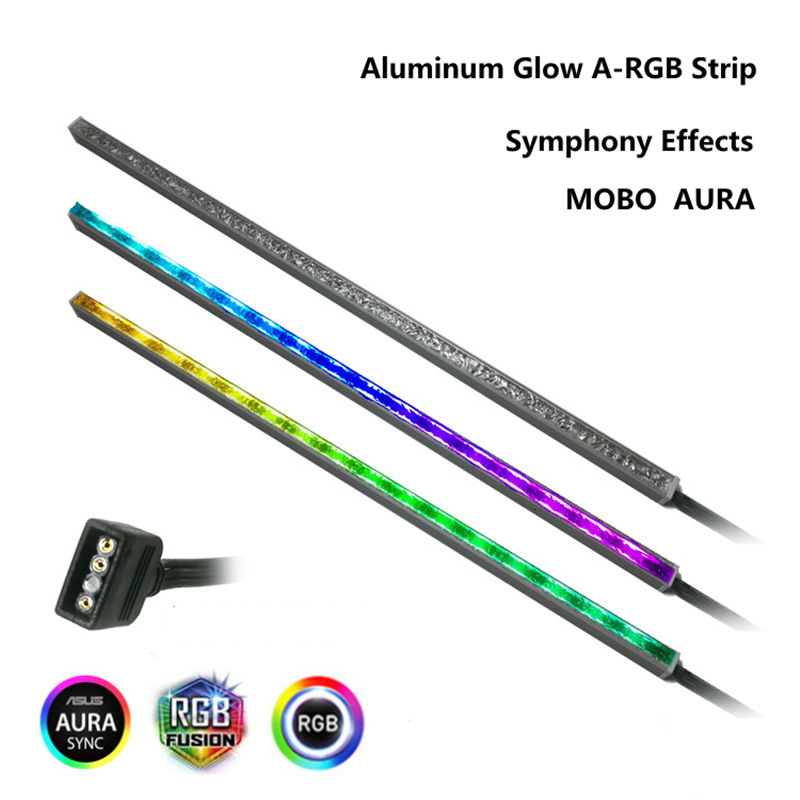RGB LED Chassis Strip 5V 3PIN ARGB Lighting AURA SYNC For Computer PC Decoration